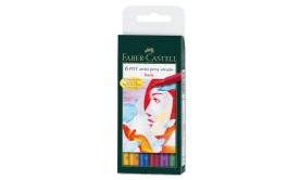 Faber-Castell PITT artist pen brush Basic, 6 färger/fp