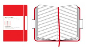 Moleskine Classic Red Ruled Notebook Large, linjerad 13x21cm