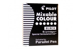 Refill/Patron Pilot Parallel Pen Mixable Colour IC-P3-S6-B Svart, 6 patroner/fp