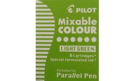 Refill/Patron Pilot Parallel Pen Mixable Colour IC-P3-S6-LG Ljusgrön, 6 patroner/fp