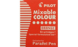 Refill/Patron Pilot Parallel Pen Mixable Colour IC-P3-S6-O Orange, 6 patroner/fp