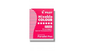 Refill/Patron Pilot Parallel Pen Mixable Colour IC-P3-S6-P Rosa, 6 patroner/fp