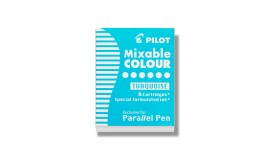 Refill/Patron Pilot Parallel Pen Mixable Colour IC-P3-S6-TQ Turkos, 6 patroner/fp