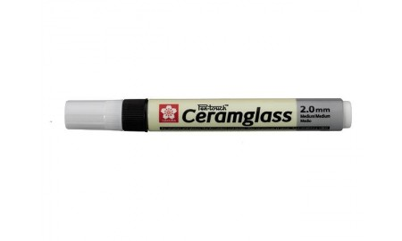 Porslinsmålningspenna Sakura Pen-Touch Ceramglass Medium 2,0mm Svart