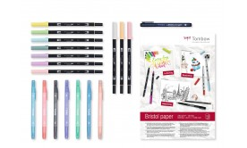 Ritset Tombow HaveFun@Home Set Pastels (pennor+ritblock). Pastell.